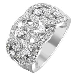 NEW 14KT White Gold Diamond Ring - #2005