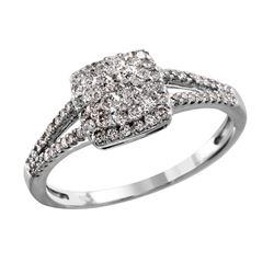 10KT White Gold Diamond Engagement Ring - #2077
