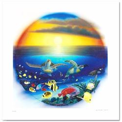 Sea Turtle Reef Limited Edition Giclee on Canvas by Renowned Artist Wyland, Numbered and Hand Signed