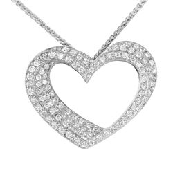 18KT White Gold Diamond Pendant and Chain - #2015-8