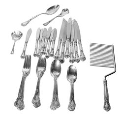 Gorham Chantilly 53-Piece Sterling Silver Flatware Set - #722