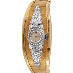 Lady's Hamilton Platinum Diamond Wristwatch - #822