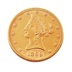 1899 $10 Liberty Head Eagle Gold Coin - #1233
