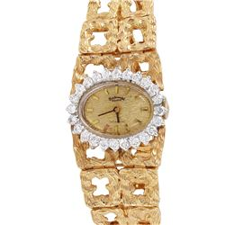 Geneve Incabloc Diamond Wristwatch - #818