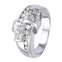 14KT White Gold Diamond Ring - #998
