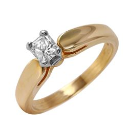 14KT Yellow Gold Diamond Solitaire Ring - #52