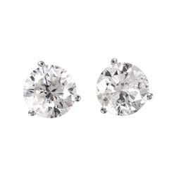 14KT White Gold Diamond Stud Earrings - #1699