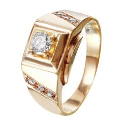 10KT Yellow Gold Diamond Ring - #137
