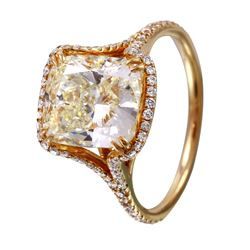 14KT Yellow Gold Diamond Engagement Ring - #1588