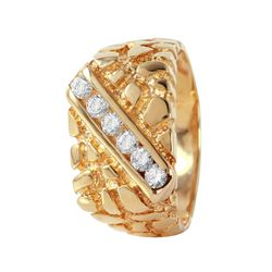 14KT Yellow Gold Diamond Nugget Ring - #470A
