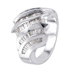 14KT White Gold Diamond Ring - #994