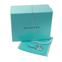Platinum Ladies Tiffany & Co. Elsa Peretti Open Heart Pendant and Chain - #1213