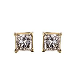 14KT Yellow Gold Diamond Stud Earrings - #1600