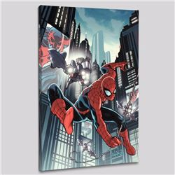 """Timestorm 2009/2099: Spider-Man One-Shot #1"" LIMITED EDITION Giclee on Canvas by Paul Renaud and Ma"
