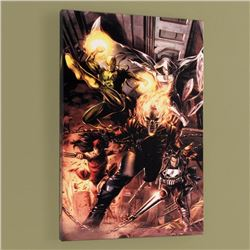 """Heroes For Hire #1"" Limited Edition Giclee on Canvas by Doug Braithwaite and Marvel Comics, Numbere"