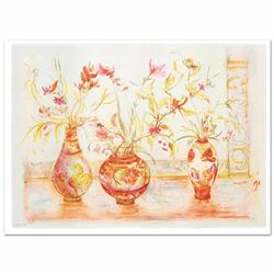 """Chinese Vase"" Limited Edition Lithograph (42"" x 29.5"") by Edna Hibel (1917-2014), Numbered and Hand"