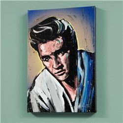 """Elvis Presley (Blue Suede)"" LIMITED EDITION Giclee on Canvas by David Garibaldi, AP Numbered and Si"