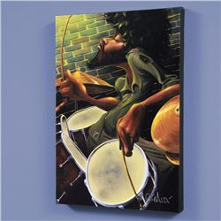 """Break Beat Fever"" LIMITED EDITION Giclee on Canvas by David Garibaldi, CC Numbered from Miniature S"
