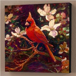 """""""Cardinal"""" Limited Edition Giclee on Canvas by Simon Bull, Numbered and Signed with Certificate of A"""
