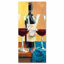 """""""Wine For Two"""" Limited Edition Serigraph by Dima Gorban, Numbered and Hand Signed with Certificate o"""