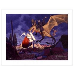 """""""Eowyn And The Nazgul"""" Limited Edition Giclee on Canvas by The Brothers Hildebrandt! Numbered and Ha"""