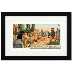 """Bizarro! """"Tonto Real Indian"""" is a Framed Limited Edition which is Numbered, Hand Signed by creator D"""