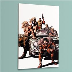 """New Avengers #10"" Limited Edition Giclee on Canvas by Mike Deodato Jr. and Marvel Comics, Numbered"