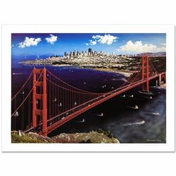 """Golden Gate"" Limited Edition Lithograph by Alexander Chen! Numbered and Hand Signed with Certificat"