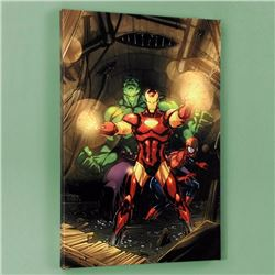 """Secret Invasion #7"" Limited Edition Giclee on Canvas by Leinil Francis Yu and Marvel Comics, Number"