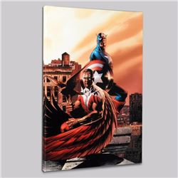 """Captain America & The Falcon #5"" Limited Edition Giclee on Canvas by Steve Epting and Marvel Comics"