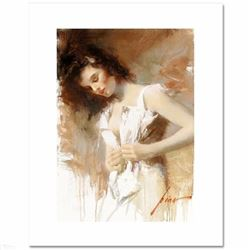 """White Camisole"" LIMITED EDITION Artist-Embellished Giclee on Canvas by Pino (1939-2010)! AP Numbere"