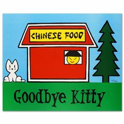 """Goodbye Kitty"" Limited Edition Lithograph (37"" x 30"") by Todd Goldman, Numbered and Hand Signed wit"