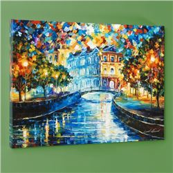 """House on the Hill"" LIMITED EDITION Giclee on Canvas by Leonid Afremov, Numbered and Signed with Cer"