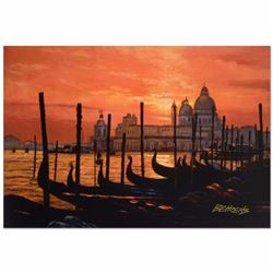 "Howard Behrens (1933-2014) - ""Sunset on the Grand Canal 2"" Limited Edition Hand Embellished Giclee o"