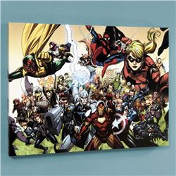 """Secret Invasion #6"" LIMITED EDITION Giclee on Canvas by Leinil Francis Yu and Marvel Comics, Number"