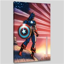 """Captain America Theatre of War: America First! #1"" LIMITED EDITION Giclee on Canvas by Howard Chayk"