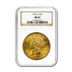 1900-S $20 Liberty Gold Coin NGC MS62