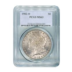 1902-O $1 Morgan Silver Dollar - NGC MS63