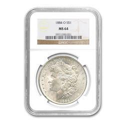 1884-O $1 Morgan Silver Dollar - NGC MS64