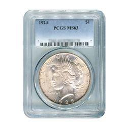 1923 $1 Peace Silver Dollar - PCGS MS63