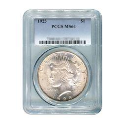 1923 $1 Peace Silver Dollar - PCGS MS64