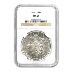 1904-O $1 Morgan Silver Dollar - NGC MS66