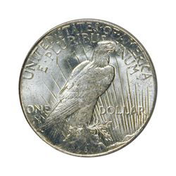 1925-S $1 Peace Silver Dollar - PCGS MS62