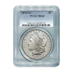 1878-CC $1 Morgan Silver Dollar PCGS MS64
