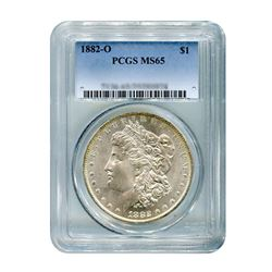 1882-O $1 Morgan Silver Dollar - PCGS MS65