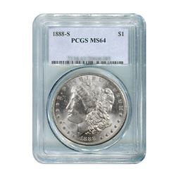 1888-S $1 Morgan Silver Dollar - PCGS MS64