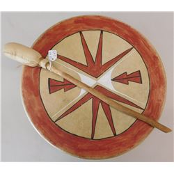 Plains Rawhide Drum and Beater