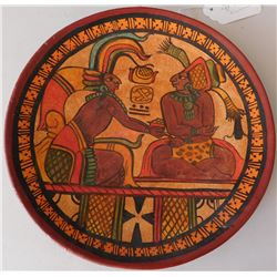 Mayan Style Pottery Plaque