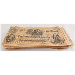 "80 Counterfeit ""Play Money"" Confederate Bills"
