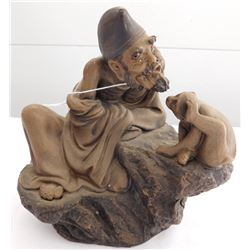 Chinese Man With Monkey